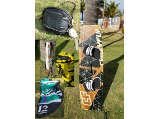 Kite boarding: Tabla+Harness+bar+old kite 12m, Puerto Rico