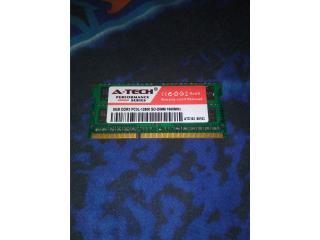 RAM DDR3 A-TECH de 8GB, Puerto Rico