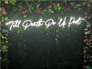 Neon Sign para Boda o Eventos, Puerto Rico