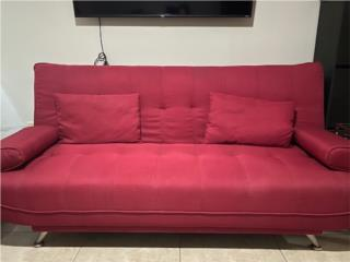 Sofa-Futon rojo $100 Aprovecha! , Puerto Rico