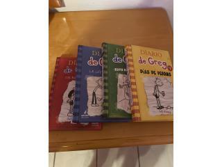 4 libro Diario de Greg $25, Puerto Rico
