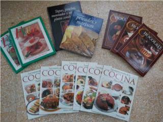 Libros de cocina todos por $40, Puerto Rico