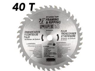 40 Teeth Carbide Blade (2 Piece), 7-1/4