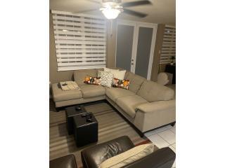 Sofa de esquina y 2 butacas en microfibra, Puerto Rico