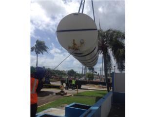 Tanque en carbon steel de 5,000 galones, Equipo Construccion Puerto Rico