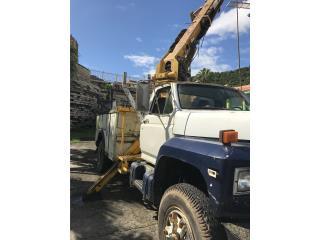 Camion Barrena 1989 Ford F 700, Equipo Construccion Puerto Rico