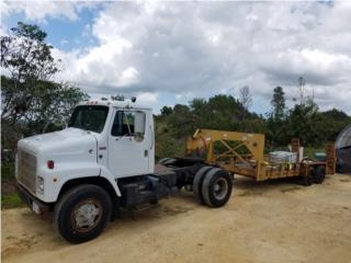 Remolcador International y Trailer Gooseneck, Equipo Construccion Puerto Rico