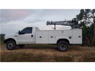 F450 7.3L 4x4 std Servibody con grua, Equipo Construccion Puerto Rico