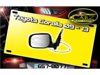 Espejo RETROVISOR Toyota COROLLA 09 - 13, Puerto Rico