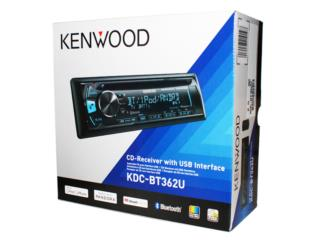 KENWOOD AM-FM-CD-USB-Bluetooth, ipod, remot, Puerto Rico