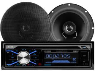 BOSS Combo AM-FM-CD-Bluetooth con 2 bocinas, Puerto Rico
