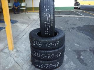 4 gomas usadas 245/70/17/firestone, Puerto Rico