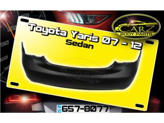 BUMPER trasero Toyota YARIS sedan 2007 - 2012, Puerto Rico
