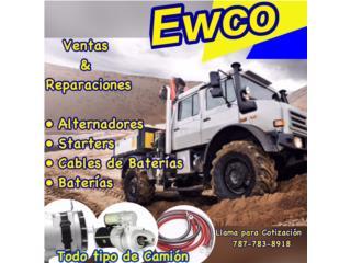 Piezas Camiones - Truck Parts -  EWCO ALTERNADOR Y STARTER Puerto Rico
