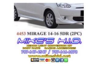 SIDE SKIRTS MITSUBISHI MIRAGE 14 - 15 (5DR), Puerto Rico