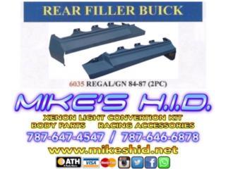 REAR FILLER BUICK - REGAL / GN 84 - 87, Puerto Rico