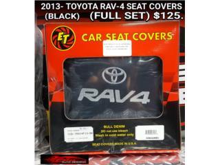 TOYOTA RAV4 2013 SEAT COVERS (BLACK), Puerto Rico