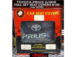 TOYOTA PRIUS 2/4DR SEAT COVERS (BLACK), Puerto Rico