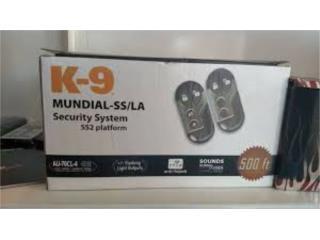 K-9 Car alarm, un beepers, sensor golpes, Puerto Rico