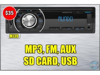 RADIO DIGITAL *USB-FM-RCA-AUX-MP3*, Puerto Rico