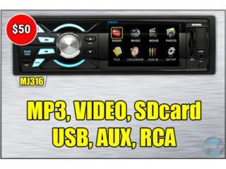 RADIO *VIDEO-USB-SD-AUX-RCA*, Puerto Rico