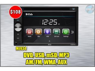 RADIO DOBLE DIN *DVD-USB-FM-AM-mSD-RCA*, Puerto Rico