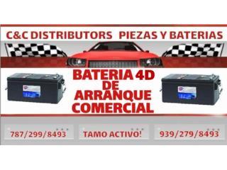 BATERIA GENERADORES Y CAMIONES CARQUEST 4D, Puerto Rico