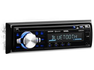 RADIO SSL SINGLE DIN CON CD-BLUETOOH-AUX-USB, Puerto Rico