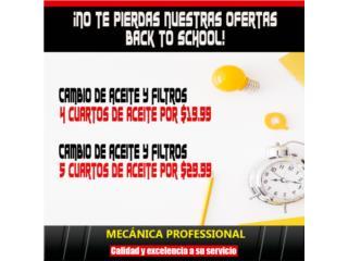 Filtros y Aceites - AEITE Y FILTRO 4 CUARTOS $19.99 5 CUARTOS $29 Puerto Rico