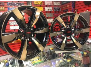 Aros / Wheels - AROS TRD FORTUNER 17X8 BLACK WITH BROZE FACE Puerto Rico