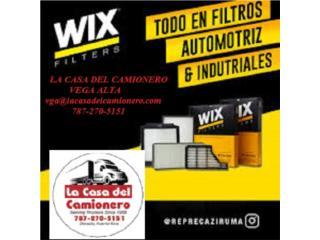 FILTROS WIX EN PUERTO RICO , Puerto Rico