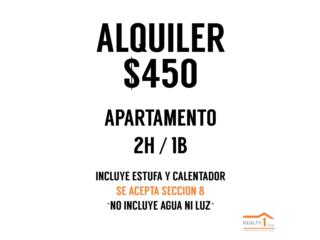 Urb. Paradise en Caguas Pueblo  2H 1B *$450*