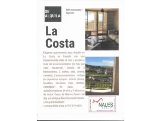 Apartamento en La Costa, Fajardo, PR