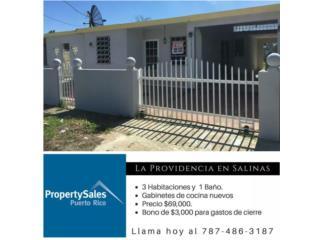 Salinas, Urb. Llanos Providencia $69,000