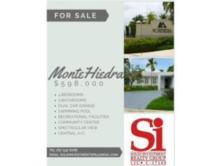 Montehiedra - 4c, 3b, piscina, garage doble..