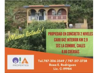 Casa en Ciales PR con 8 cuardas de terreno