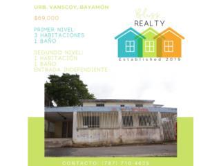 Urb. Vanscoy, Bayamon 3H/1B $69K