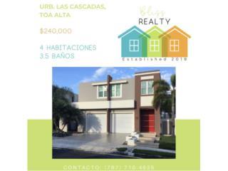 Urb. Las Cascadas Toa Alta 4H/3.5B/ $240K