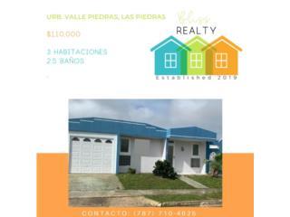 Urb. Valle Piedra, Las Piedras 3H/1B $110K