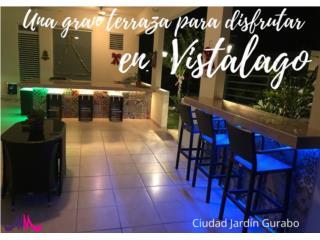 VISTALAGO CIUDAD JARDIN GURABO  CON TERRAZA