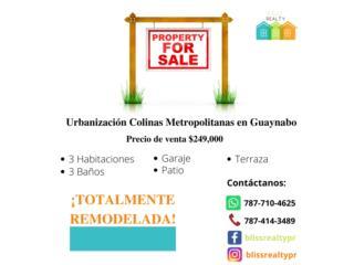 Colinas Metropolitanas, Guaynabo 3H,3B $249K
