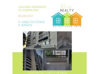 Apt, Laguna Gardens, 4H/3B $128K Restaurado.
