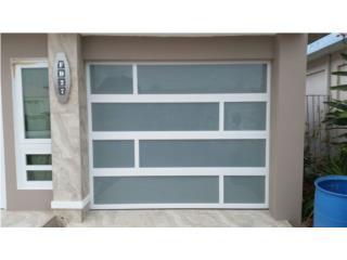 Puerta De Garage En Aluminio y Cristal, Puerto Rico