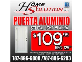 PUERTA SOLIDA LIGHT BLANCA $109.95, Puerto Rico