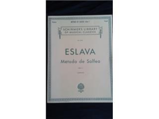 LIBRO METODO DE SOLFEO ESLAVA , Puerto Rico