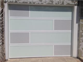 Puerta garage modelo full glass de seguridad , Puerto Rico