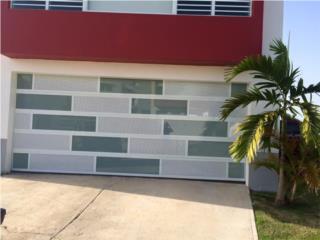 Puerta garage modelo luxury combinada 2017, Puerto Rico