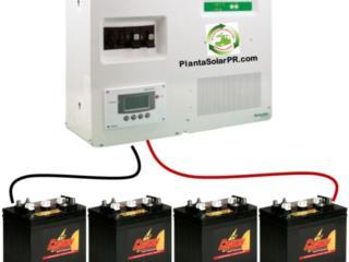 Sistema Baterias emergencias Placas Solares, Puerto Rico