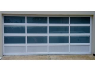 Puerta De Garage Aluminio Cristal y Ventilada, Puerto Rico