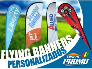 BANDERAS TEARDROP **Full Color** con tu logo, Puerto Rico